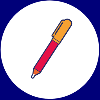 An illustration of a pen